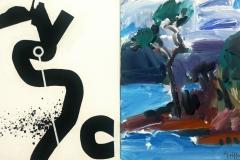 Vincentia Tree no 1 2013 acrylic on canvas 51x81cm