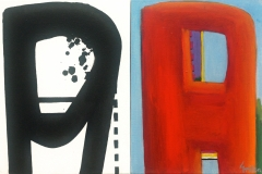 Window Rock Diptych no2 2013 acrylic on canvas 40x60cm