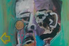 Head of a Man 2016 acrylic on canvas