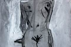 Kneeling Nude 2014 gesso and charcoal on paper