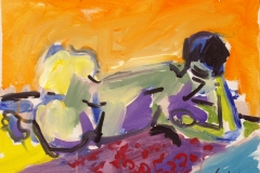 Reclining Figure 2005 acrylic on canvas 35x45cm