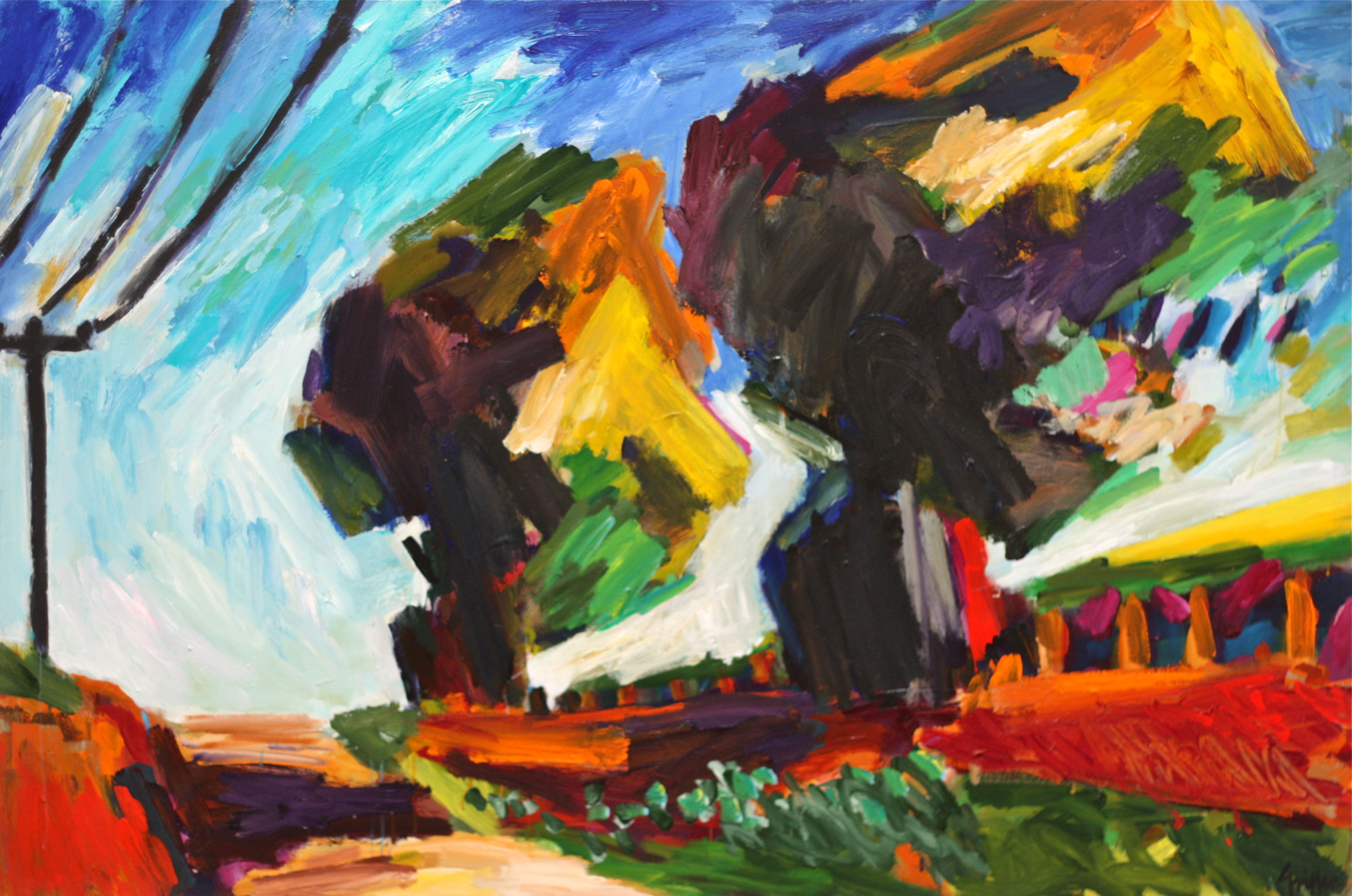 JPEG Two Trees, McLaren Vale 2010 acrylic on canvas 112x168cm