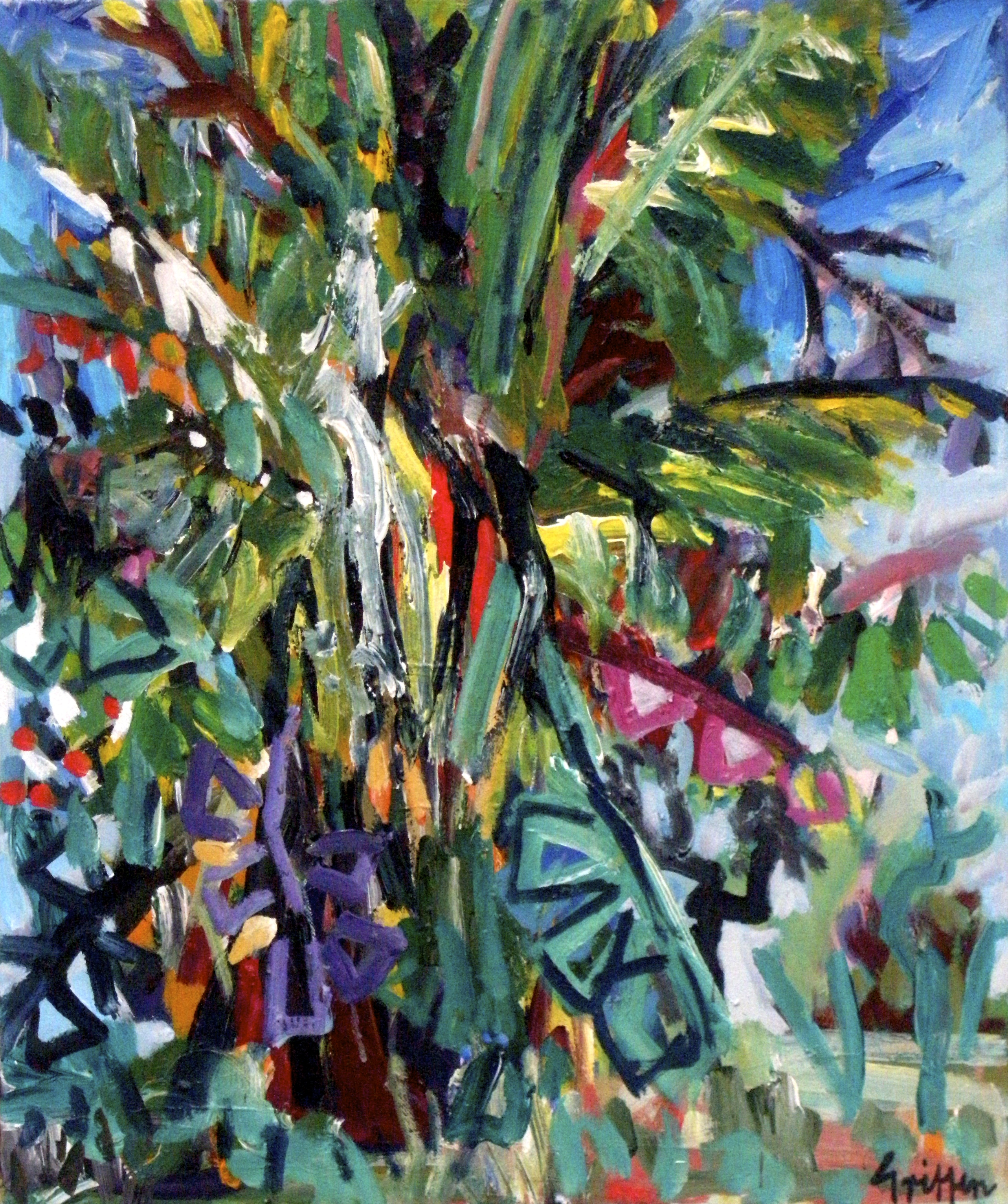 Tropical Tree acrylic on canvas 41x56cm