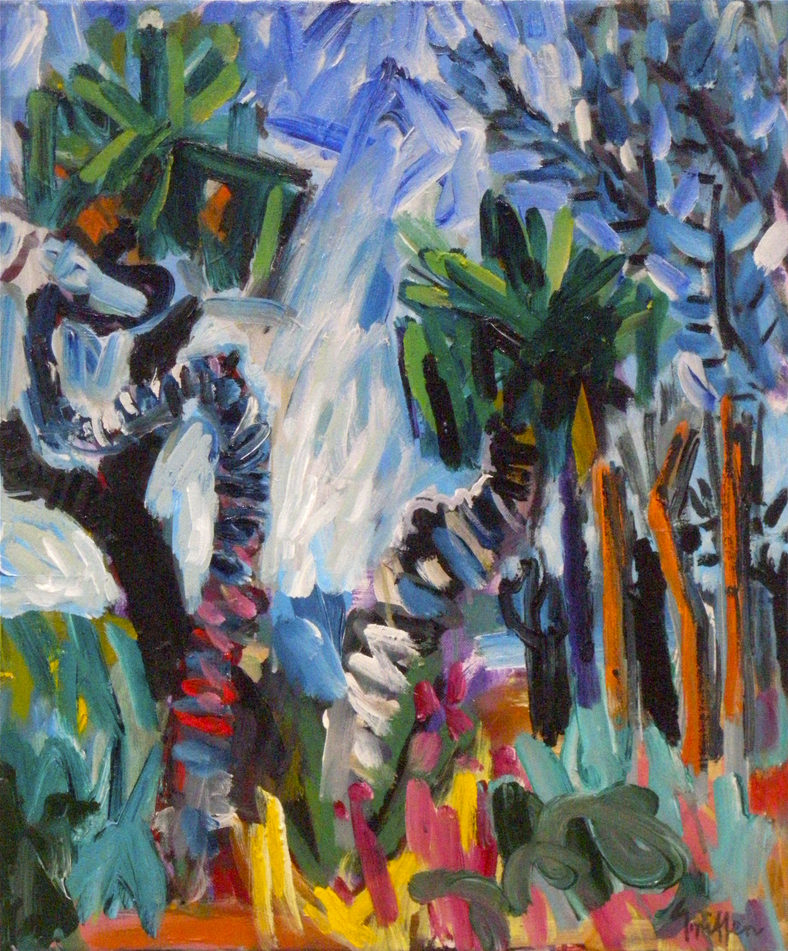 Palms and Trees Arnhemland 1 2010 acry on canv 61x51cm