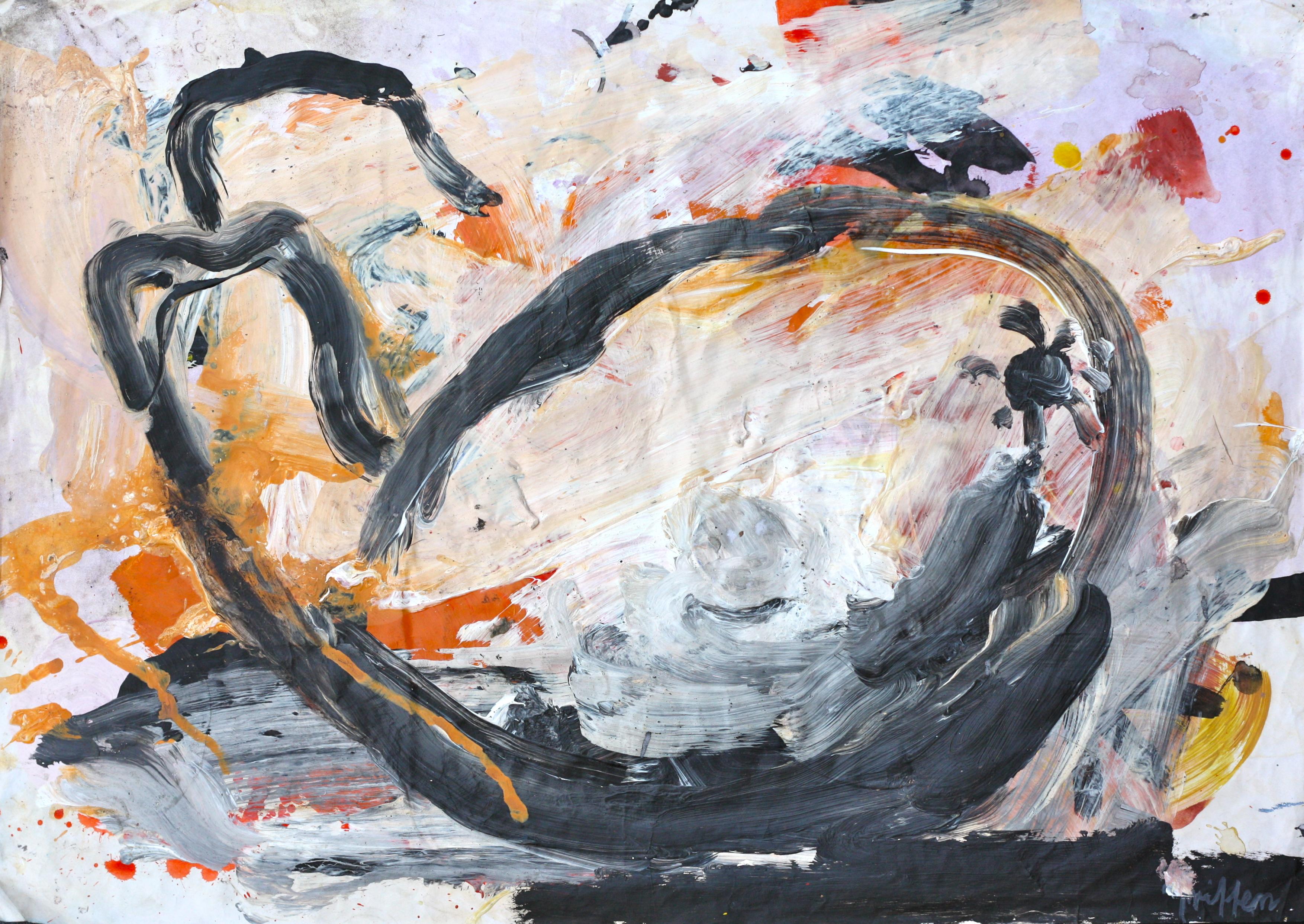 Gourd 2006 acrylic on pap44x63cm