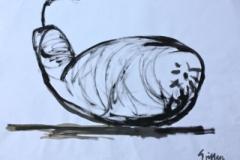 """""""Gourd Sketch"""" 2009 acryrylic on paper 59x42cm"""