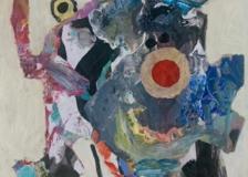 """Bull"" 2016 acrylic on paper 58x41.5cm"