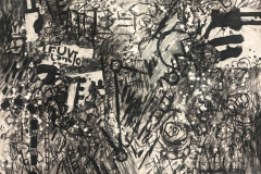 Road to Hippy Bobs 2012 charcoal, graphite, gesso on paper 120x150cmWagner 20/5/13
