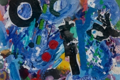 Rising Blue 2016 acrylic on paper 58x41cm