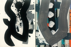 Hilly Road Diptych 2013 acrylic on canvas 40x60cm