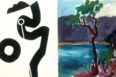 Vincentia Tree no 2 2013 acrylic on canvas 51x81cm