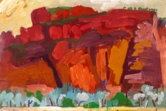 Central Bungles From Roadside 02 gouache on paper 45x60cm