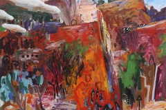 Living in the Kimberley 2010 acryl on canv 137x183cm