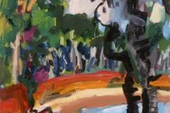 Beach, Arnhemland 2009 acry on canv 61x50cm