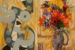 A Jug and Flowers,1 and 2 2009 91x122cm
