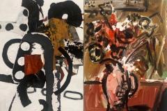 Flower Duet 2012 acrylic and collage on canvas 76x101.5cm donatedCoffs Hbr Reg Gal 2012