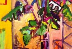 """Still Life on a Pedestal"" 08 acrylic on canvas 152.5x111cm"